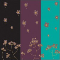 Link toThreecolor flowers vector background