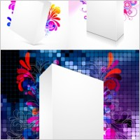 Link toThreedimensional box flower background 2 vector