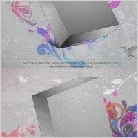Link toThreedimensional box flower background 3 vector