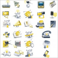Link toThreedimensional icon vector science and technology topics