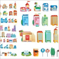 Link toThreedimensional small house icon vector