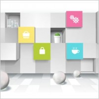 Link toThreedimensional space for creative business background vector 1