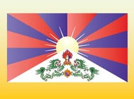 Link toTibet flag vector free