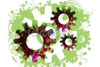 Link toTide gears background vector ii