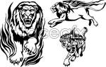 Link toTiger the lion totem vector