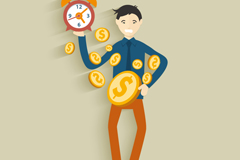 Link toTime is money for business illustration vector