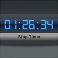 Link toTimer widget interface with blue digital numbers