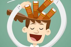 Link toTo fill the book-learning in the brain man vector graphics