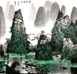 Link toTo the lijiang river in the spring of chinese ink painting psd