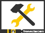 Tools icon graphics vector free