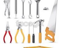 Tools icon vector pliers wrench, screwdriver