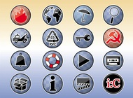Link toTools icons buttons vector free