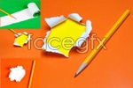 Link toTorn paper and trace with pencil psd