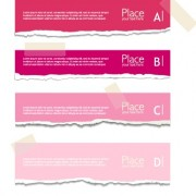Link toTorn paper colored banner vector set 01 free