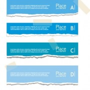 Link toTorn paper colored banner vector set 04 free