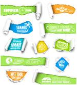 Link toTorn paper effect banner vector
