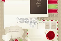 Link toTorn paper envelope button vector