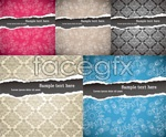 Link toTorn paper pattern background vector
