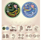 Totem dragon pattern vector