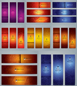 Totem pattern banner vector