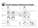 Link toTouch screen gestures vector