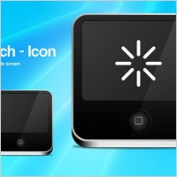 Link toTouch screen icon psd