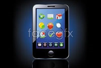 Link toTouch-screen phone vector