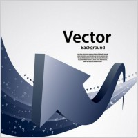 Link toTouched by a sense of the arrow vector technology background 1