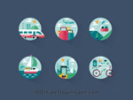 Link toTourist flat icons vector