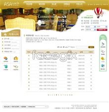 Link toTourist route reservation site templates psd