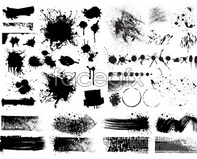 Link toTraces of inkjet ink dots vector