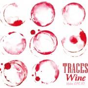 Traces wine design vector free