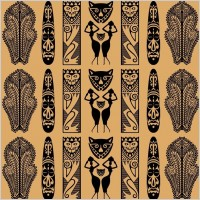 Link toTraditional african pattern vector