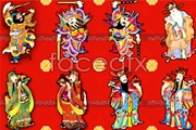 Link toTraditional chinese new year picture of door god mammon vector