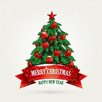 Link toTraditional christmas tree vector