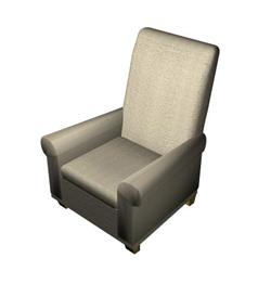 Link toTraditional cloth art sofa chair single 3d models