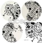 Link toTraditional flower patterns vector