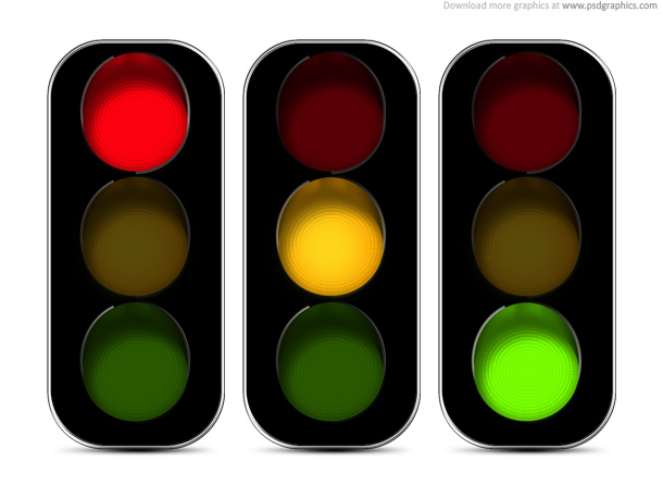 Traffic lights icon (psd)