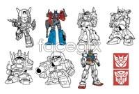 Link toTransformers cartoon vector line release