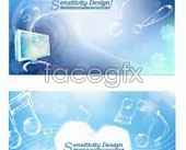 Link toTransparent accent and fantasy backgrounds vector