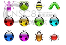 Link toTransparent bright! insects icons 2