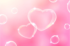 Link toTransparent bubble of love background vector