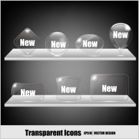 Link toTransparent crystal icons vector