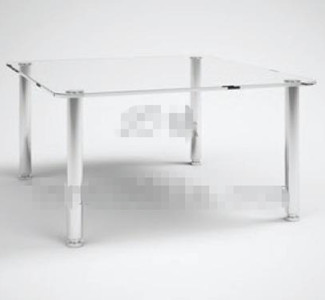 Link toTransparent glass rectangular tea table 3d model