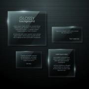 Link toTransparent glass shapes backgrounds 01 vector
