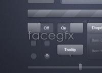Link toTransparent glass ui: free psd for user interface design