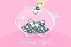 Link toTransparent piggy vector