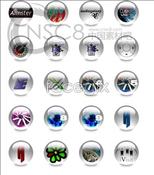 Link toTransparent sphere system icons