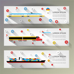 Link toTransport banner vector