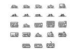 Link toTransport line icon vector